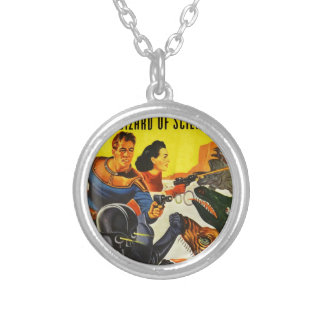 Captain Fure and the Space Dogs Silver Plated Necklace