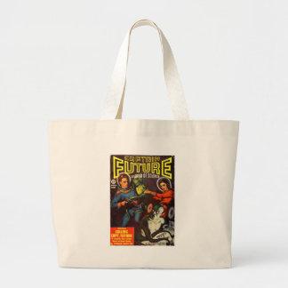 Captain Future and Solar Doom. Large Tote Bag