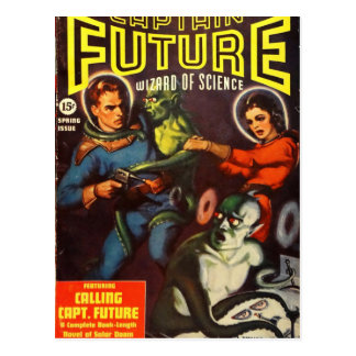 Captain Future and Solar Doom. Postcard