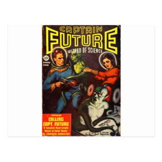 Captain Future and Solar Doom. Postcard
