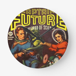 Captain Future and Solar Doom. Round Clock
