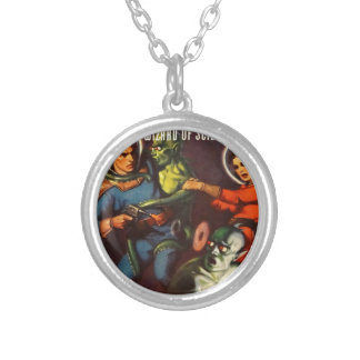 Captain Future and Solar Doom. Silver Plated Necklace