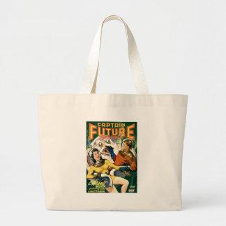 Captain Future and the Magic Moon Large Tote Bag