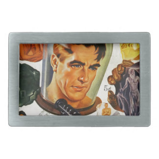 Captain Future and the Space Stones Rectangular Belt Buckle