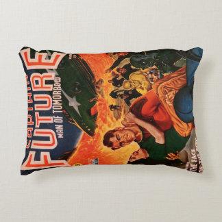 Captain Future and Volcanic Doom Decorative Pillow