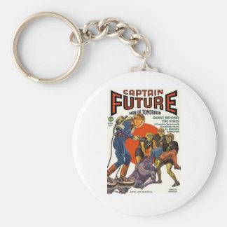 Captain Future Basic Round Button Keychain