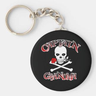 Captain Grandma Basic Round Button Keychain