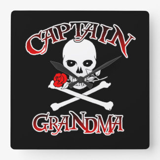 Captain Grandma Wall Clock
