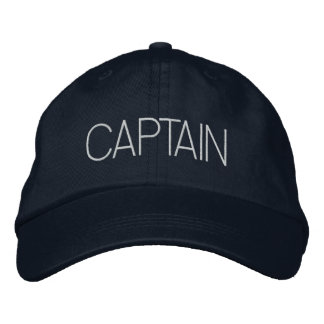 Captain Hat - boat captain, yacht gift, new boater Embroidered Hat