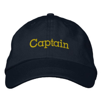 Captain Hat Embroidered Hats