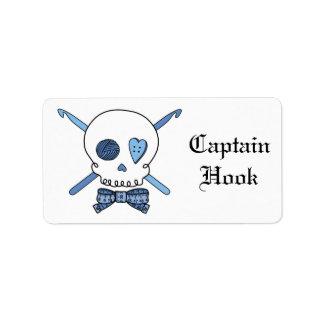 Captain Hook Crochet Skull (Bow Tie)