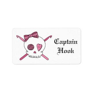 Captain Hook -Crochet Skull (Hair Bow)