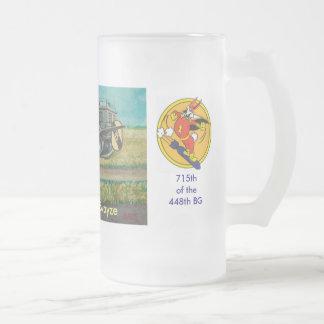 Captain Jack Swayze Frosted Glass Beer Mug
