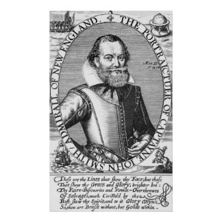 Captain John Smith  1st Governor of Virginia Poster