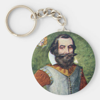 Captain John Smith Jamestown Colony Basic Round Button Keychain