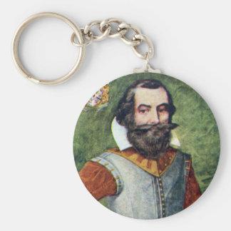 Captain John Smith Jamestown Colony Basic Round Button Keychain