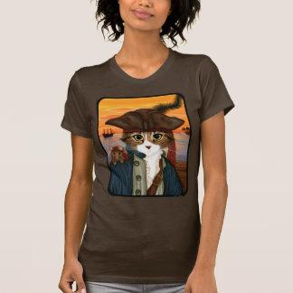 Captain Leo, Pirate Cat & Rat Fantasy Art T-Shirt