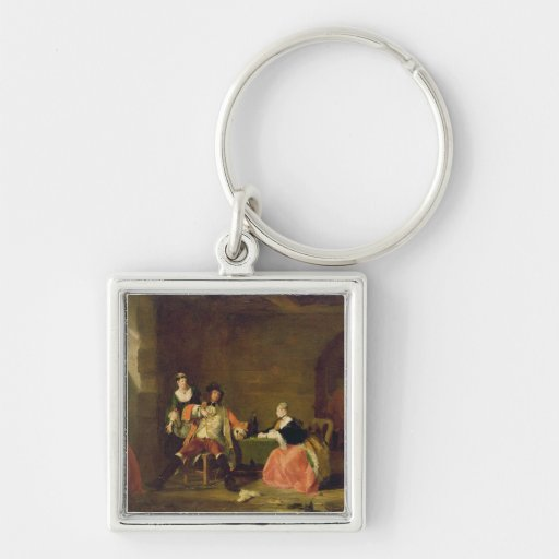 Captain Macheath Upbraided by Polly and Lucy in th Key Chains