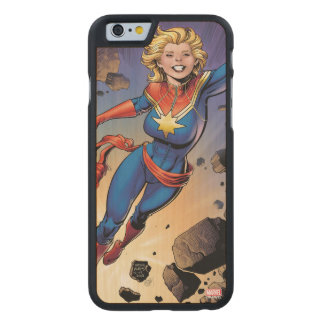 Captain Marvel Breaking Through Wall Carved Maple iPhone 6 Case