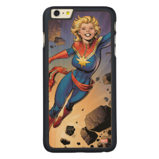 Captain Marvel Breaking Through Wall Carved Maple iPhone 6 Plus Case