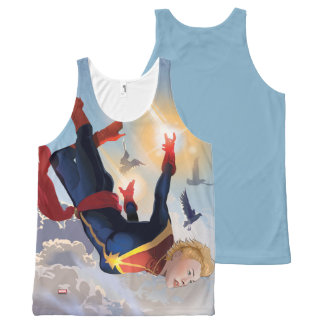 Captain Marvel Entering The Atmosphere All-Over-Print Tank Top