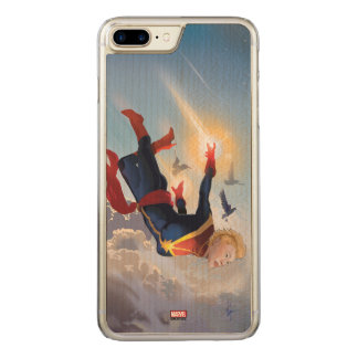 Captain Marvel Entering The Atmosphere Carved iPhone 8 Plus/7 Plus Case