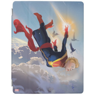 Captain Marvel Entering The Atmosphere iPad Cover