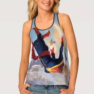 Captain Marvel Entering The Atmosphere Tank Top
