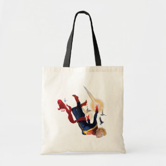 Captain Marvel Entering The Atmosphere Tote Bag