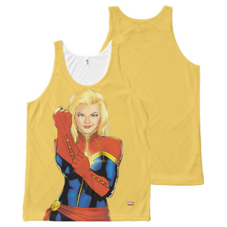 Captain Marvel Fitting Glove All-Over-Print Tank Top