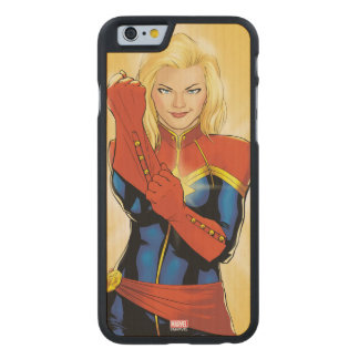 Captain Marvel Fitting Glove Carved Maple iPhone 6 Case