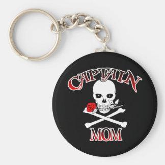 Captain Mom (Rose)Keychain