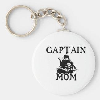 Captain Mom Small Keychain