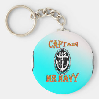 CAPTAIN Mr NAVY with Gradient Key Chain