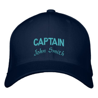 Captain name personalized embroidered hat