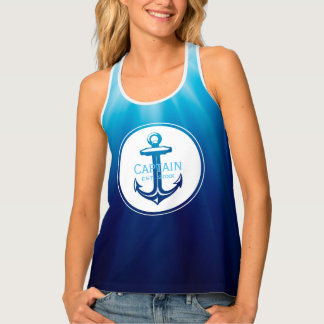 Captain | Nautical Girl Tank Top