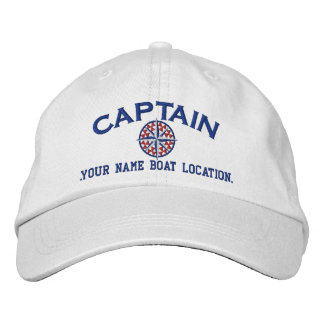 Captain Nautical STAR Personalize it! Embroidery Embroidered Baseball Caps