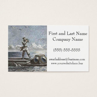 Captain Nemo Verne 20,000 Leagues Illustration Business Card