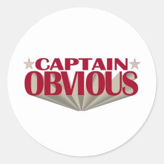 Captain Obvious Classic Round Sticker