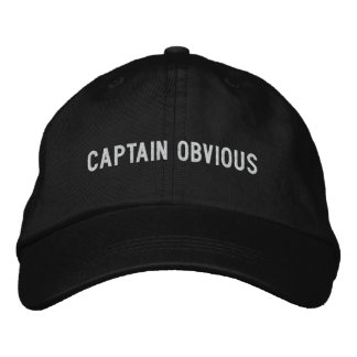captain obvious embroidered hat