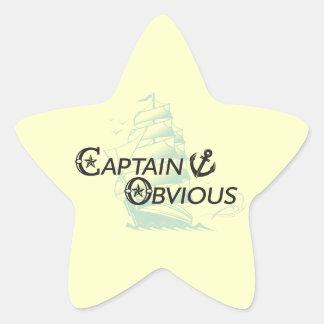 Captain Obvious Star Sticker