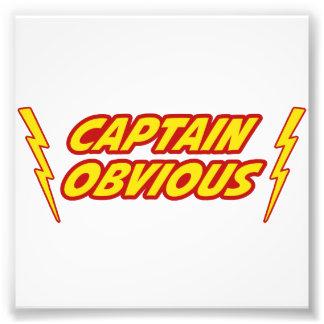 Captain Obvious Superhero Photo Print