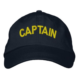 Captain of a boat or sporting team embroidered hats