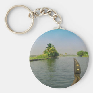 Captain of houseboat surveying the saltwater keychain