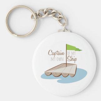 Captain Of Ship Basic Round Button Keychain