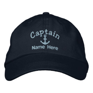 Captain Of The Boat Personalized Embroidered Baseball Caps