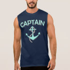 Captain of the boat with anchor sleeveless shirt