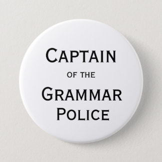 Captain of the Grammar Police Button