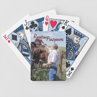 Captain-Pinzgauer Bull Playing Cards- personalize Bicycle Playing Cards