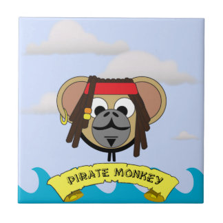 Captain Pirate Monkey Jack Jungle Cartoon Animal Tile